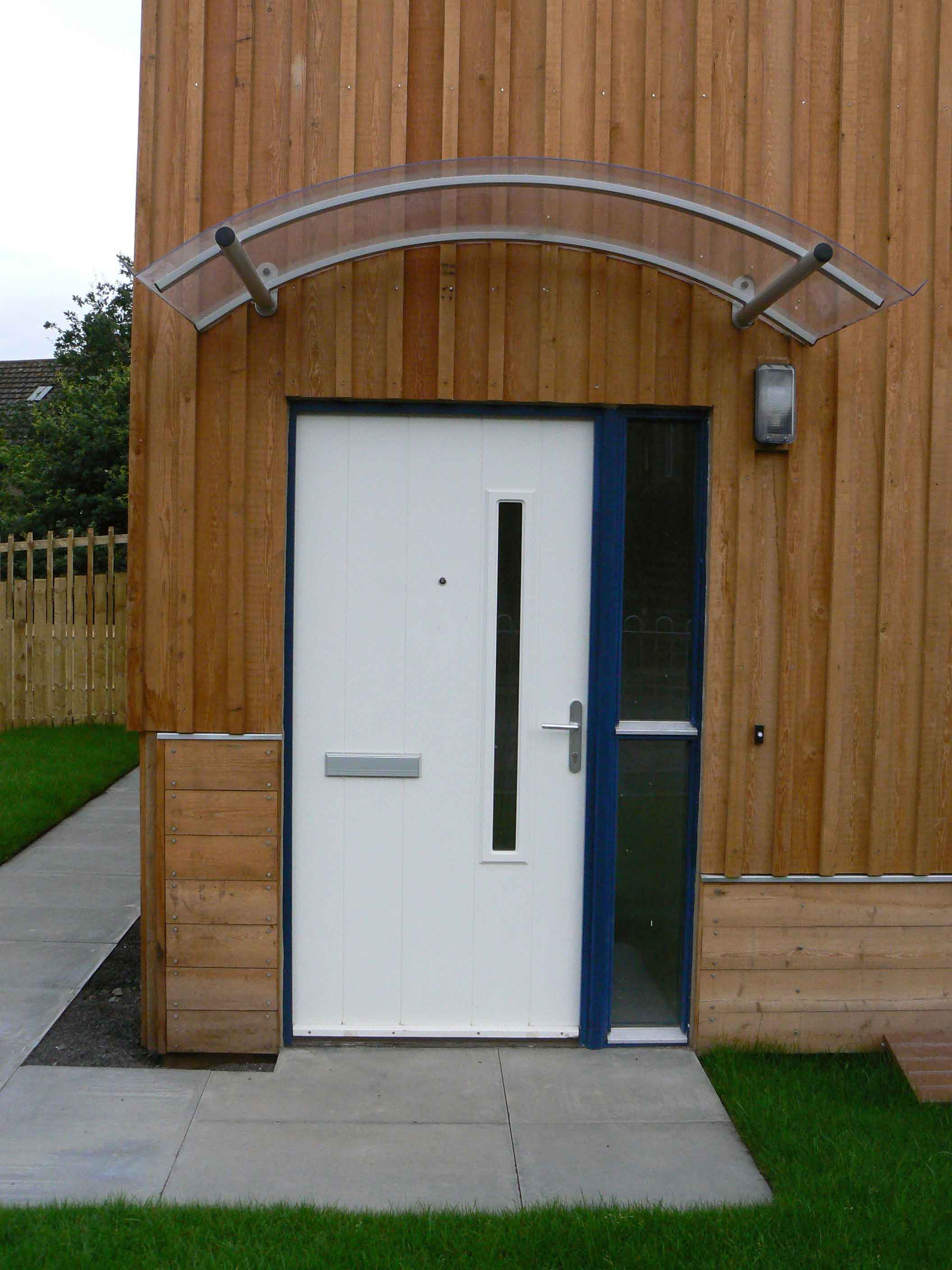 Siberian Larch Clad Timber Kit House Door And Canopy